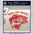 Kiss My Bass Decal Sticker Red 120x120