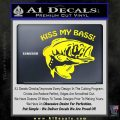 Kiss My Bass Decal Sticker Yellow Laptop 120x120