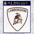 Lamborghini D1 Decal Sticker BROWN Vinyl 120x120