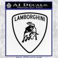 Lamborghini D1 Decal Sticker Black Vinyl 120x120