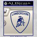 Lamborghini D1 Decal Sticker Blue Vinyl 120x120