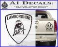 Lamborghini D1 Decal Sticker Carbon FIber Black Vinyl 120x97
