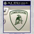 Lamborghini D1 Decal Sticker Dark Green Vinyl 120x120