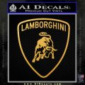 Lamborghini D1 Decal Sticker Gold Vinyl 120x120