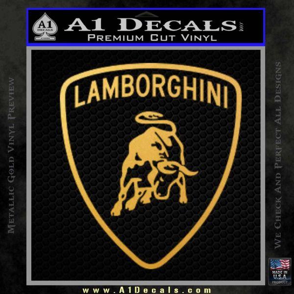 Lamborghini D1 Decal Sticker Gold Vinyl
