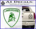 Lamborghini D1 Decal Sticker Green Vinyl Logo 120x97