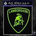 Lamborghini D1 Decal Sticker Lime Green Vinyl 120x120