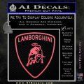 Lamborghini D1 Decal Sticker Pink Emblem 120x120
