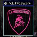 Lamborghini D1 Decal Sticker Pink Hot Vinyl 120x120