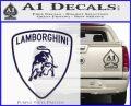 Lamborghini D1 Decal Sticker PurpleEmblem Logo 120x97