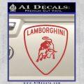 Lamborghini D1 Decal Sticker Red 120x120