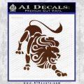 Leo Zodiac Decal Sticker Intricate BROWN Vinyl 120x120