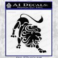 Leo Zodiac Decal Sticker Intricate Black Vinyl 120x120