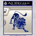Leo Zodiac Decal Sticker Intricate Blue Vinyl 120x120