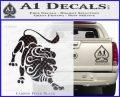 Leo Zodiac Decal Sticker Intricate Carbon FIber Black Vinyl 120x97