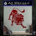 Leo Zodiac Decal Sticker Intricate DRD Vinyl 120x120