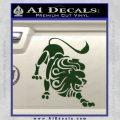 Leo Zodiac Decal Sticker Intricate Dark Green Vinyl 120x120