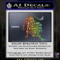 Leo Zodiac Decal Sticker Intricate Glitter Sparkle 120x120