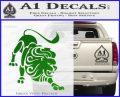 Leo Zodiac Decal Sticker Intricate Green Vinyl Logo 120x97