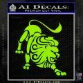 Leo Zodiac Decal Sticker Intricate Lime Green Vinyl 120x120