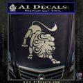 Leo Zodiac Decal Sticker Intricate Metallic Silver Emblem 120x120