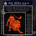 Leo Zodiac Decal Sticker Intricate Orange Emblem 120x120