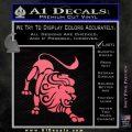 Leo Zodiac Decal Sticker Intricate Pink Emblem 120x120