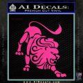 Leo Zodiac Decal Sticker Intricate Pink Hot Vinyl 120x120
