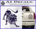 Leo Zodiac Decal Sticker Intricate PurpleEmblem Logo 120x97
