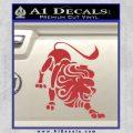 Leo Zodiac Decal Sticker Intricate Red 120x120