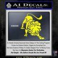Leo Zodiac Decal Sticker Intricate Yellow Laptop 120x120