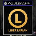 Libertarian Constitutionalist Decal Sticker Gold Vinyl 120x120