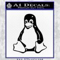 Linux Penguin Decal Sticker Black Vinyl 120x120
