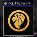 Lion Head Emblem Decal Sticker Gold Vinyl 120x120