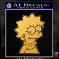 Lisa Simpson D1 Decal Sticker Gold Vinyl 120x120