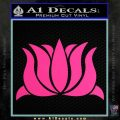 Lotus Flower Decal Sticker D1 Pink Hot Vinyl 120x120