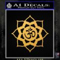 Lotus Om Symbol D1 Decal Sticker Gold Vinyl 120x120