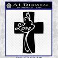 Love Cross Crucifix Decal Sticker Black Vinyl 120x120