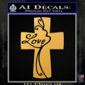 Love Cross Crucifix Decal Sticker Gold Vinyl 120x120