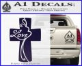 Love Cross Crucifix Decal Sticker PurpleEmblem Logo 120x97