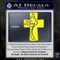 Love Cross Crucifix Decal Sticker Yellow Laptop 120x120