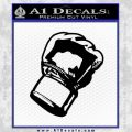 MMA Decal Sticker Glove Black Vinyl 120x120