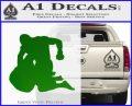 MMA Fighters Decal Sticker Ground Green Vinyl Logo 120x97