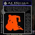 MMA Fighters Decal Sticker Ground Orange Emblem 120x120