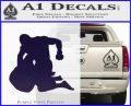 MMA Fighters Decal Sticker Ground PurpleEmblem Logo 120x97