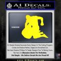 MMA Fighters Decal Sticker Ground Yellow Laptop 120x120