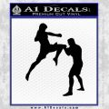 MMA Fighters Decal Sticker Standing Black Vinyl 120x120