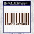 Made In Australia Decal Sticker BROWN Vinyl 120x120