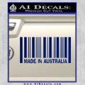 Made In Australia Decal Sticker Blue Vinyl 120x120