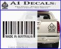 Made In Australia Decal Sticker Carbon FIber Black Vinyl 120x97
